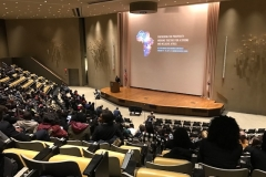 At the 2018 Harvard Africa Conference at Harvard University