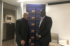With Sudanese entrepreneur Samuel Akuoch in the MIT offices
